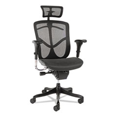 Alera® Alera EQ Series Headrest, Mesh, Black ALEEQHR18