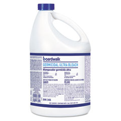 Boardwalk® Ultra Germicidal Bleach, 1 gal Bottle, 6/Carton
