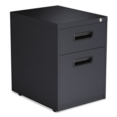 Alera® Two-Drawer Metal Pedestal File, 14 7/8w x 19 1/8d x 21 5/8h, Charcoal ALEPABFCH