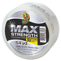 """Duck® MAX Packaging Tape, 1.88"""" x 54.6 yds, 3"""" Core, Crystal Clear, 18/Pack DUC241514"""