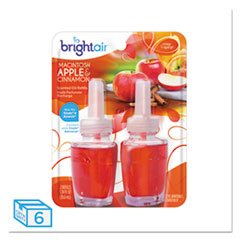 BRIGHT Air® Electric Scented Oil Air Freshener Refill, Macintosh Apple/Cinnamon,2/PK, 6PK/CT
