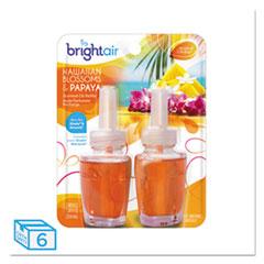 BRIGHT Air® Electric Scented Oil Air Freshener Refill, Hawaiian Blossom/Papaya,2/PK, 6 PK/CT