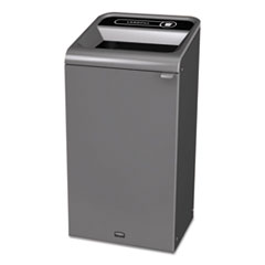 Rubbermaid® Commercial Configure Indoor Recycling Waste Receptacle, 23 gal, Gray, Landfill