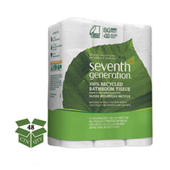100 Recycled Bathroom Tissue Two Ply White 500 SheetsRoll 24PK