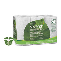 100 Recycled Bathroom Tissue 2 Ply White 300 SheetsRoll 48Carto