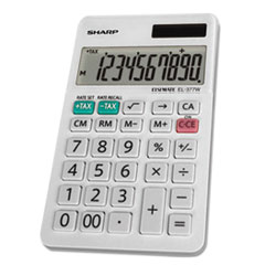 Sharp® EL-377WB Large Pocket Calculator, 10-Digit LCD