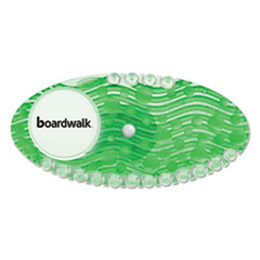 Boardwalk® Curve Air Freshener, Cucumber Melon, Green, 10/BX, 6 BX/CT BWKCURVECMECT
