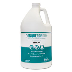 Fresh Products Conqueror 103 Odor Counteractant Concentrate, Lemon, 1 gal Bottle, 4/Carton