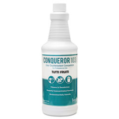 Fresh Products Conqueror 103 Odor Counteractant Concentrate, Tutti-Frutti, 32 oz Bottle, 12/Carton