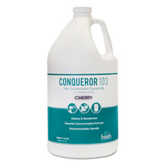 Fresh Products Conqueror 103 Odor Counteractant Concentrate, Cherry, 1 gal Bottle, 4/Carton
