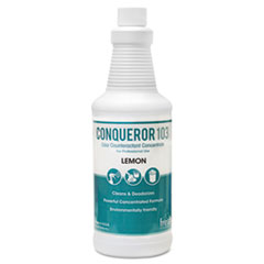 Fresh Products Conqueror 103 Odor Counteractant Concentrate, Lemon, 32 oz Bottle, 12/Carton
