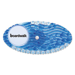 Boardwalk® Curve Air Freshener, Cotton Blossom, Blue, 10/Box BWKCURVECBL