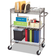 Alera® Wire Shelving Three-Tier Rolling Cart Thumbnail