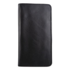 STEBCO Passport/Document Holder, Black, Leather, 4 3/4 x 9