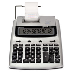 Victor® 1212-3A Antimicrobial Printing Calculator, Blue/Red Print, 2.7 Lines/Sec