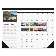 House of Doolittle™ Earthscapes™ 100% Recycled Classic Cars Monthly Desk Pad Calendar Thumbnail
