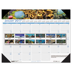 House of Doolittle™ Earthscapes™ 100% Recycled Sea Life Monthly Desk Pad Calendar Thumbnail