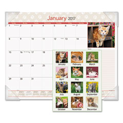 AT-A-GLANCE® Kittens Recycled Monthly Desk Pad Thumbnail
