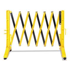 "Tatco Expandable Plastic Barrier Gate, 13"" x 16 1/2"" - 138"" x 41"", Yellow/Black"