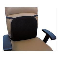 Alera® Cooling Gel Memory Foam Backrest, 14 1/8 x 14 1/8 x 2 3/4, Black ALECGC411