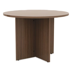 Alera® Valencia™ Series Round Conference Tables with Straight Leg Base
