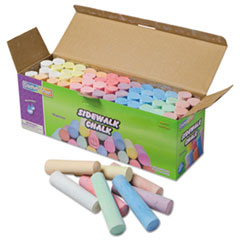 Creativity Street® Sidewalk Chalk, 4 x 1 Dia. Jumbo Stick, 12 Assorted Colors, 52/Set