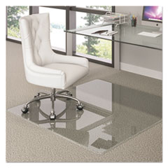 Premium Glass All Day Use Chair Mat - All Floor Types, 44 x 50, Rectangular, CR