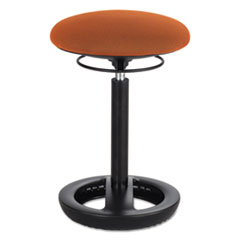"Safco® Twixt Desk Height Ergonomic Stool, 22 1/2"" High, Orange Fabric SAF3000OR"