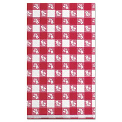 "Kurly Kate® Paper Table Cover, 40"" x 300ft, Red Gingham"