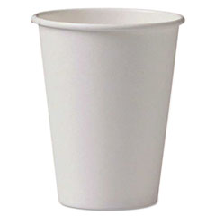 Dopaco® Paper Hot Cups, 8oz, White, 50/Sleeve, 20 Sleeves/Carton
