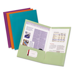 Oxford™ Metallic Laminated Twin Pocket Folders