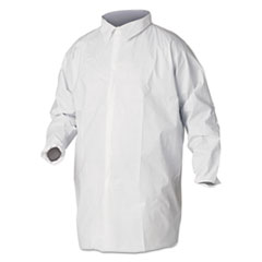 KleenGuard™ A40 Liquid and Particle Protection Lab Coats, 2X-Large, White, 30/Carton