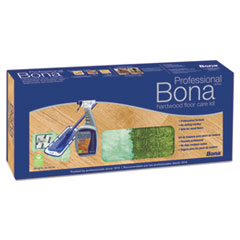 "Bona® Hardwood Floor Care Kit, 15"" Head, 52"" Handle, Blue"
