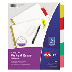 Avery® Write & Erase Big Tab™ Paper Dividers