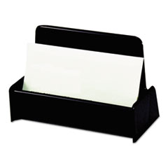 Universal® Business Card Holder, Capacity 50 3 1/2 x 2 Cards, Black