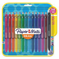 Paper Mate® InkJoy Gel Retractable Pen, 0.7mm, Assorted Ink, 14/Pack PAP1951636