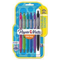 Paper Mate® InkJoy 300 RT Fashion-Wrap Retractable Ballpoint Pen, 1mm, Assorted, 6/Pack PAP1945916