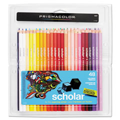Scholar Colored Pencil Set, HB, 48 Assorted Colors/Set
