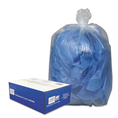 "Classic Clear Linear Low-Density Can Liners, 10 gal, 0.6 mil, 24"" x 23"", Clear, 500/Carton"