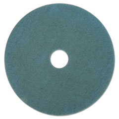 "3M™ Ultra High-Speed Floor Burnishing Pads 3100, 27"" Diameter, Aqua, 5/Carton"