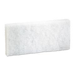 Boardwalk® Light-Duty White Pad, 4 x 10, 20/Carton