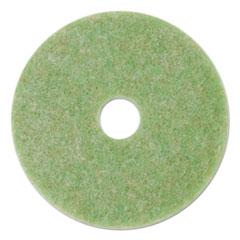 """3M™ Low-Speed TopLine Autoscrubber Floor Pads 5000, 20"""" Diameter, Green/Amber, 5/Carton"""