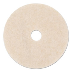 "3M™ Ultra High-Speed TopLine Floor Burnishing Pads 3200, 24"" Dia., White/Amber, 5/CT"