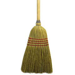 "Boardwalk® Maid Broom, Mixed Fiber Bristles, 55"" Long, Natural"