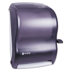 San Jamar® Lever Roll Towel Dispenser, Classic, 12.94 x 9.25 x 16.5, Transparent Black Pearl