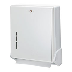 San Jamar® True Fold C-Fold/Multifold Paper Towel Dispenser, White, 11 5/8 x 5 x 14 1/2