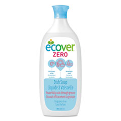 Ecover™ Liquid Dish Soap, Fragrance Free, 25 oz Bottle, 6/Carton