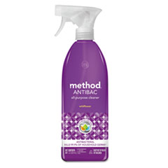Method® Antibac All-Purpose Cleaner, Wildflower, 28 oz Spray Bottle, 8/Carton