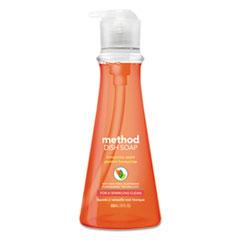 Method® Dish Soap, Honeycrisp Apple, 18 oz Pump Bottle, 6/Carton