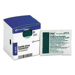 First Aid Only™ SmartCompliance Castile Soap Towelettes, 10/Box
